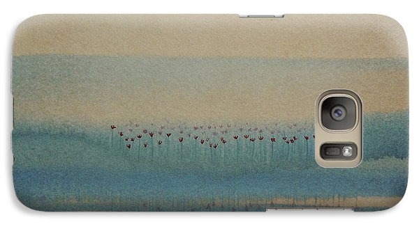 Galaxy Case featuring the painting Loch Of My Heart by Mini Arora