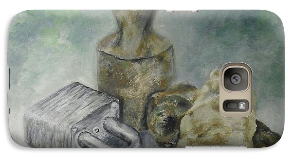 Galaxy Case featuring the painting Locked And Anchored by Mary Ellen Anderson