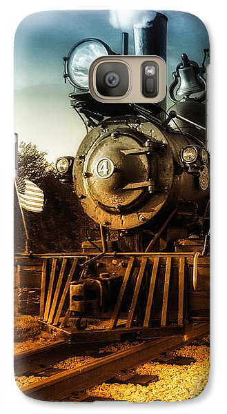 Locomotive Number 4 Galaxy S7 Case