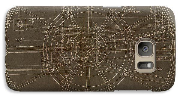 Galaxy Case featuring the painting Locomotive Wheel by James Christopher Hill