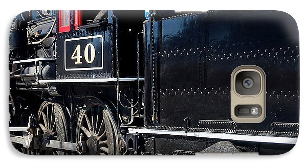 Galaxy Case featuring the photograph Locomotive With Tender by Gunter Nezhoda