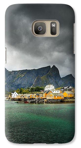 Galaxy Case featuring the photograph Lofoten by Maciej Markiewicz