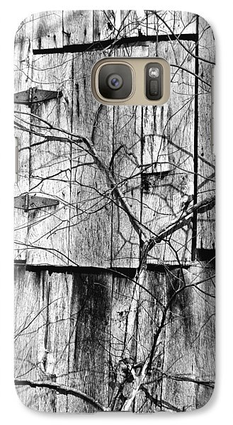 Galaxy Case featuring the photograph Loft Door And Vines by Greg Jackson