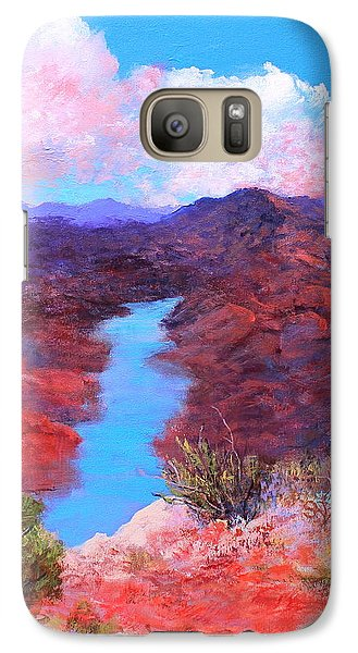 Galaxy Case featuring the painting Lofty View by M Diane Bonaparte
