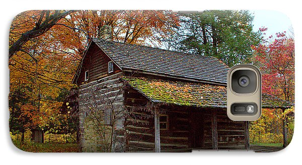 Galaxy Case featuring the photograph Log Cabin 1 by Jim McCain