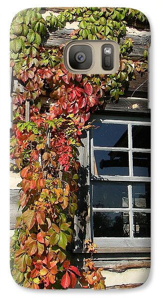 Galaxy Case featuring the photograph Log Cabin Ivy by Jean Goodwin Brooks