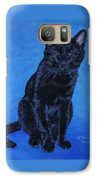 Galaxy Case featuring the painting Loki by Wendy Shoults