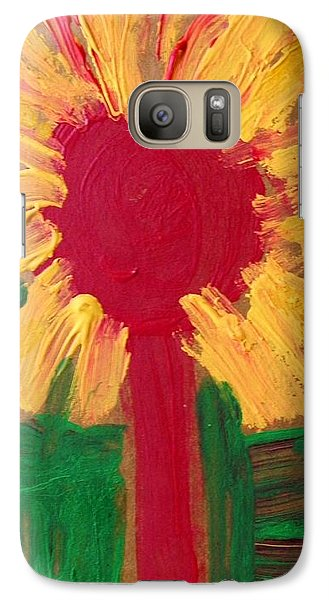 Galaxy Case featuring the painting Lolipop Flower by Mary Carol Williams