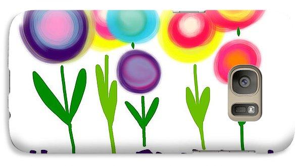 Galaxy Case featuring the digital art Lollipop Flowers  by Christine Fournier