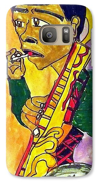 Galaxy Case featuring the painting Lollipop Man by Artists With Autism Inc