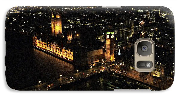 Galaxy Case featuring the photograph London At Night by Katie Wing Vigil