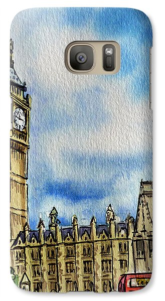 London England Big Ben Galaxy S7 Case by Irina Sztukowski