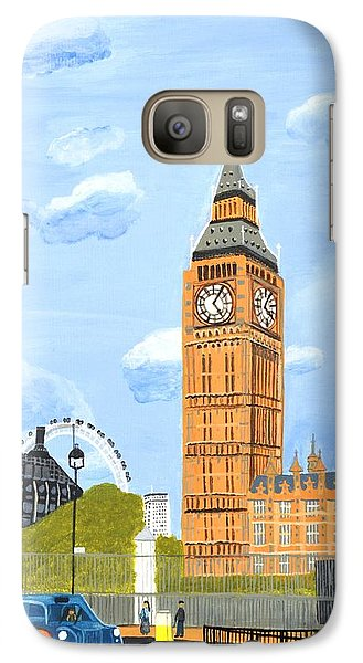 Galaxy Case featuring the painting London England Big Ben  by Magdalena Frohnsdorff
