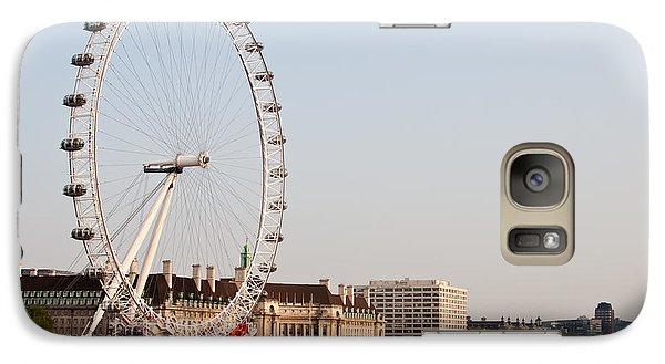 Galaxy Case featuring the photograph London Eye Day by Matt Malloy