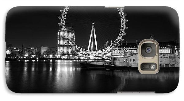 Galaxy Case featuring the photograph London Eye Mono by Matt Malloy