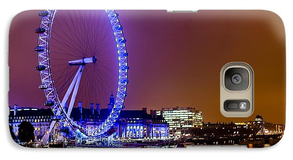 Galaxy Case featuring the photograph London Eye Night Glow by Matt Malloy
