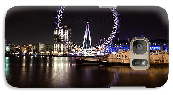 Galaxy Case featuring the photograph London Eye Night by Matt Malloy
