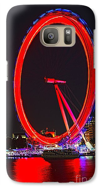 London Eye Red Galaxy Case by Jasna Buncic