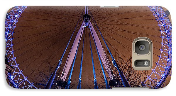 Galaxy Case featuring the photograph London Eye Supports by Matt Malloy