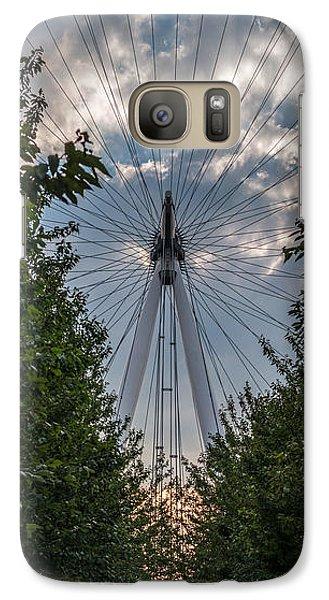 Galaxy Case featuring the photograph London Eye Vertical Panorama by Matt Malloy