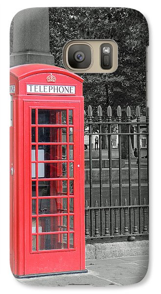 Galaxy Case featuring the photograph London Phone Box by Jayne Wilson