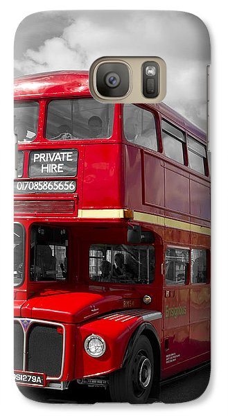 London Red Buses On Westminster Bridge Galaxy S7 Case by Melanie Viola