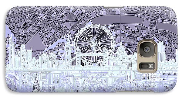 London Eye Galaxy S7 Case - London Skyline Abstract 10 by Bekim Art