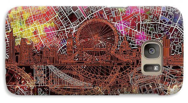 London Eye Galaxy S7 Case - London Skyline Abstract 5 by Bekim Art