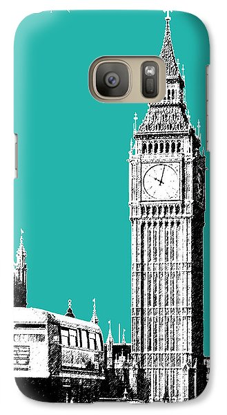 London Skyline Big Ben - Teal Galaxy S7 Case by DB Artist