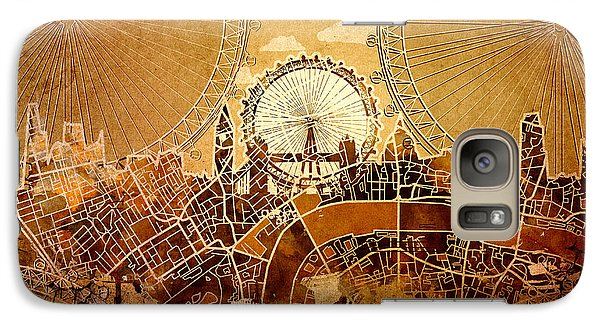 London Eye Galaxy S7 Case - London Skyline Old Vintage  by Bekim Art