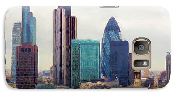 Galaxy Case featuring the digital art London Skyline by Ron Harpham