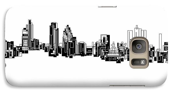 Galaxy Case featuring the painting London Skyline by Sheep McTavish
