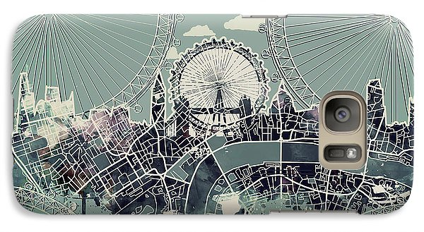 London Eye Galaxy S7 Case - London Skyline Vintage by Bekim Art