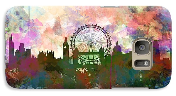 London Eye Galaxy S7 Case - London Skyline Watercolor by Bekim Art