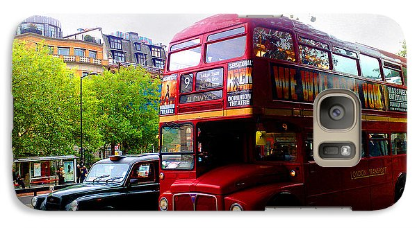 Galaxy Case featuring the photograph London Taxi And Bus by Hanza Turgul