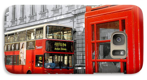 Galaxy Case featuring the photograph London With A Touch Of Colour by Nina Ficur Feenan
