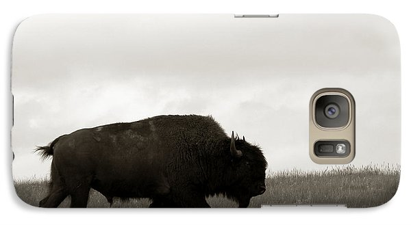 Buffalo Galaxy S7 Case - Lone Bison by Olivier Le Queinec