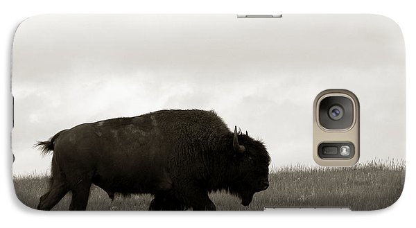 Lone Bison Galaxy Case by Olivier Le Queinec