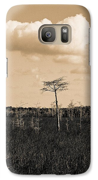 Galaxy Case featuring the photograph lone cypress III by Gary Dean Mercer Clark