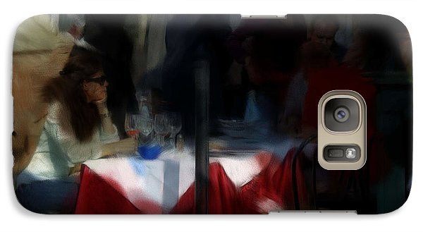 Galaxy Case featuring the digital art Lone Diner by Ron Harpham