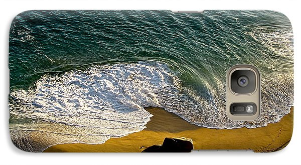 Galaxy Case featuring the photograph Lone Hiker At Sunset On Secluded Beach At Cabo San Lucas by Sean Griffin