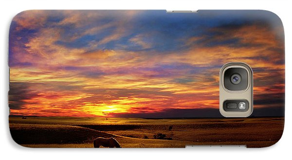 Galaxy Case featuring the photograph Lone Horse Greenwood County by Rod Seel