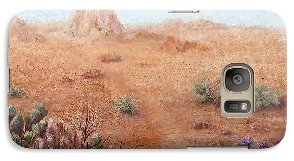 Galaxy Case featuring the painting Lone Mesa by Roseann Gilmore