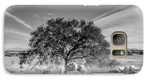 Galaxy Case featuring the photograph Lone Oak by Robert  Aycock