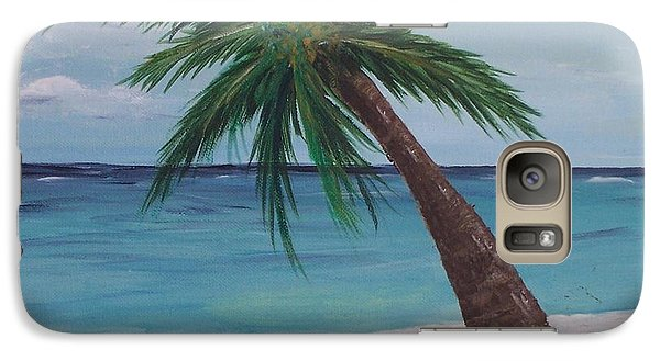 Galaxy Case featuring the painting Lone Palm by Debbie Baker
