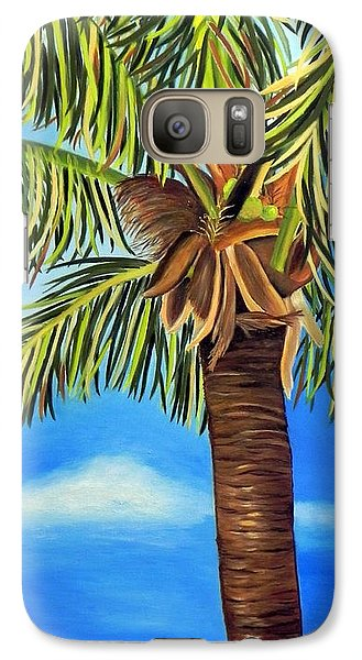 Galaxy Case featuring the painting Lone Palm by Shelia Kempf