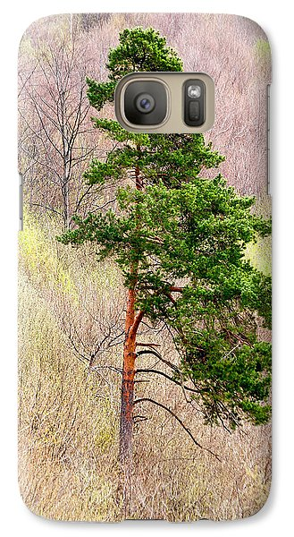 Galaxy Case featuring the photograph Lone Pine by Les Palenik
