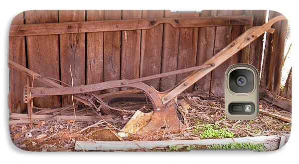 Galaxy Case featuring the photograph Lone Plow by Nick Kirby