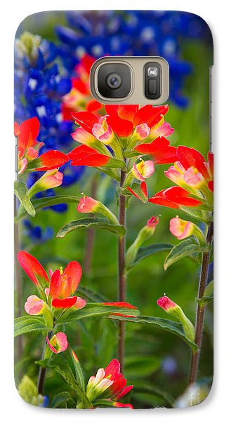 Lone Star Blooms Galaxy Case by Inge Johnsson