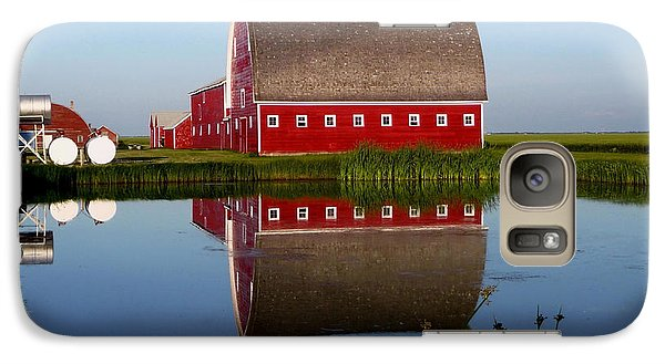 Galaxy Case featuring the photograph Lone Star Farms by Larry Trupp